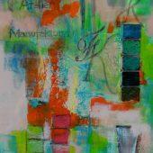 JK -meine Malerei  (2016) 40x120   Acryl