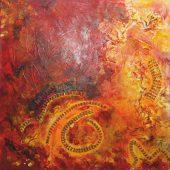 Leichter leben  (2012) 60x60  Acryl