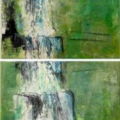 Wasserfall in Südtirol (2013) Duo 40x50 Acryl