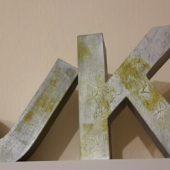 JK 2014 - Initialen für Ausstellungsdeko