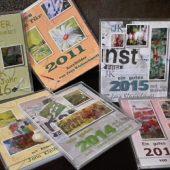 Jahreskalender  mit  eigenen Acrylbildern