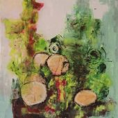 Baumstämme I (2016) 60x60 Acryl