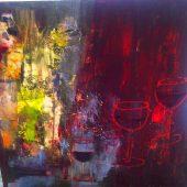 Zum Wohl  (2015) 40 x40 Acryl