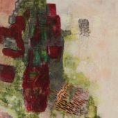 Stein auf Stein 1 Trio (2016) 50x70 Acryl