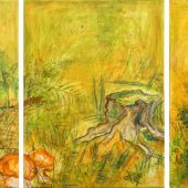 Waldmotiv (2007) Trio 3x 40x60 Acryl