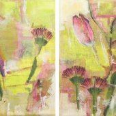 Frühlingsgefühle (2013) Duo 2x 20x20 Acryl