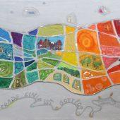 Hommage an Hundertwasser (2008) 40x60 Acryl