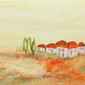 Toskanadörfchen (2005) 20x50 Acryl