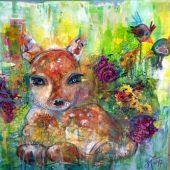 Bambi für Annika (2017) 50x50 Acryl